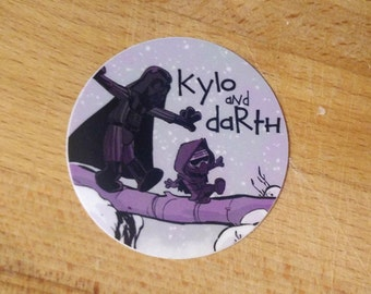 Kylo and Darth (Calvin and Hobbes crossover) Sticker