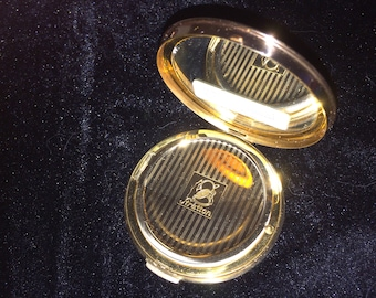 Stratton Gold tone Flowered Compact 1950's (spiral base) unused