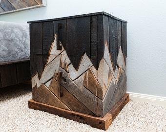Rustic Furniture, Reclaimed Wood, Bedroom Furniture, Unique Nightstand,  Natural Wood, Pallet