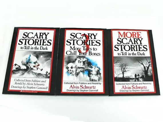 3 Book Set SCARY STORIES To Tell In The Dark By Alvin