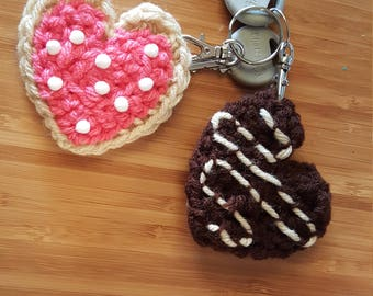 Key Chain/Valentine's Heart Cookie/ Ready to Ship!