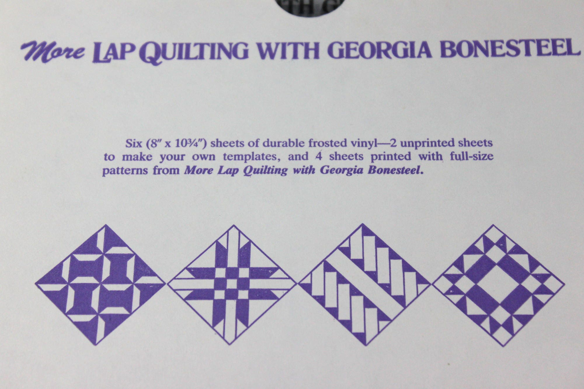 Quilting Templates for Lap Quilts - Spools, Brick Walk, Weathervane ...