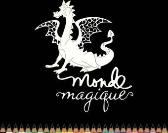 Cuts scrapbooking world dragon magic deco die cut embellishment cut paper