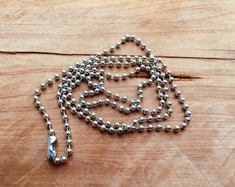 """Add-on Stainless Steel Ball Chain, 24"""""""