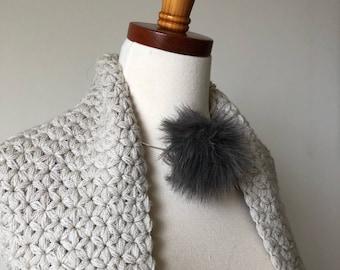 NEW ITEM - Jasmine Scarf - Flower Scarf - Crocheted