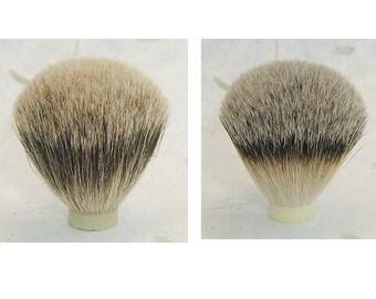 21mm, Taper knot, silver tip knot, best badger, shave knots, silver tip bristles, brush head, shave hair knot, shave brush hair, badger knot
