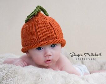 Pumpkin Hat Pixie NB-3 mo, 3-6 mo, 6-12 mo, 12-24 mo, 2 to 4 yr sizes Cute Halloween Photography Prop