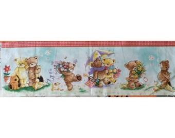 Fabric cotton pillows 59 x 19 cm the bear