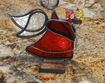 """Small Stained Glass Angel - """"Marilyn"""""""
