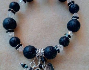 Black dragonfly bracelet