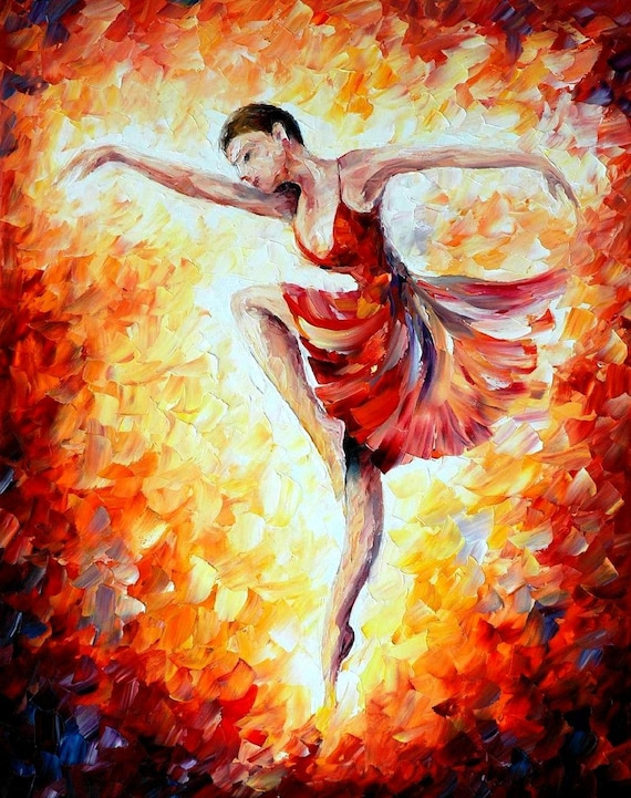 Painting Dance Dancing Woman Wall Art On Canvas By Leonid