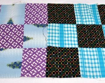 Lot of 15 Nine Patch Quilt Squares