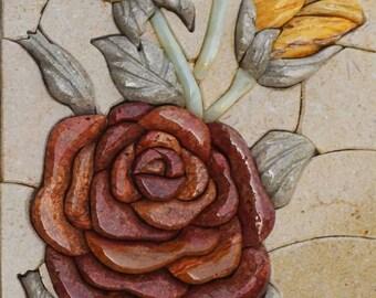 Mosaic Stone Art - 3D Wild Flower