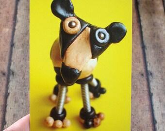Robot Dog Cow Sculpture Art Print Postcard Kitsch Geek Animal Lover Gift PERFECT FOR FRAMING too