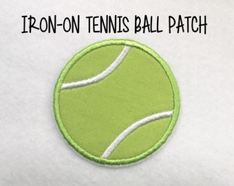 Iron-on Tennis Ball Patch Appliqué ***Ready to Ship in 1-2 Days!