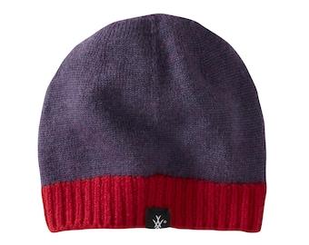 Kids purple hat in merino wool