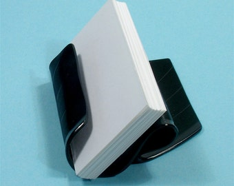 Black Vinyl Record Album Business Card Holder / CD Display / iPhone Stand
