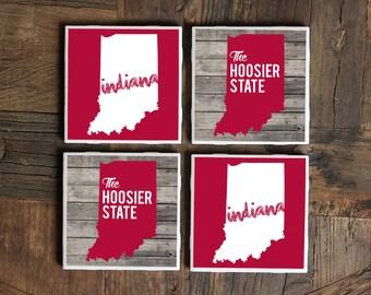 Indiana / Indiana Coasters / Hoosier / Indiana Hoosier State / Indiana Gift / Indiana Coaster / Hoosier Coasters / Hoosier / Indiana Decor