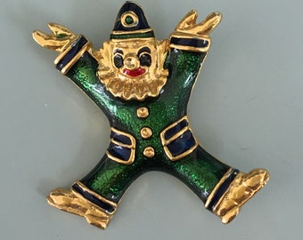Vintage Circus Clown lBrooch