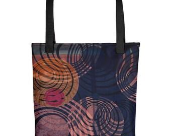 Tote bag, Circles Printed Bag