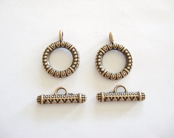 Copper Toggle Clasps, Copper Toggle Clasps, Copper Clasps, Copper Necklace Clasp, Copper Bracelet Clasp, Copper Findings