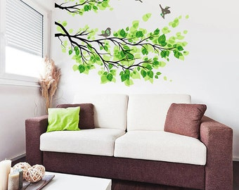 branch wall decals birds wall decals tree wall decals for Living Room kcik515