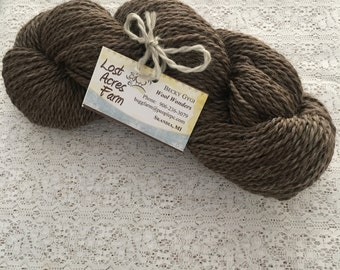 100% Shetland Wool Yarn-Brown