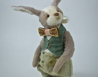 Teddy Rabbit Bush Easter bunny viscose OOAK
