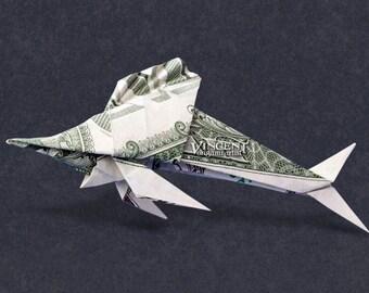 SWORDFISH Money Origami Dollar Bill Fish Sea Animal Cash Sculptors Bank Note Handmade