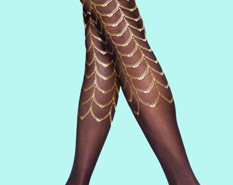 Cabaret tattoo tights available in S-M L-XL