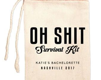 Personalized Hangover Kits, Bachelorette Party Bags,  Custom Bachelorette Favor Bags, Funny Bachelorette Gift Ideas