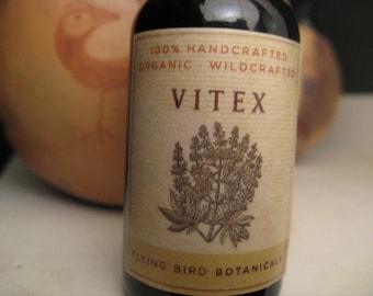 vitex tincture, organic vitex a.k.a. chaste tree berry tincture