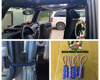 Teal 2 or 4 Door Jeep Wrangler Paracord Gift Set (2003-2018)