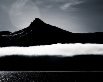 Landscape Fine Art - Alaska Wall Art - Black and White Mountain Photography Home Decor - Modern Nature