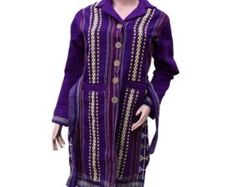 Indigo Hand Woven Coat