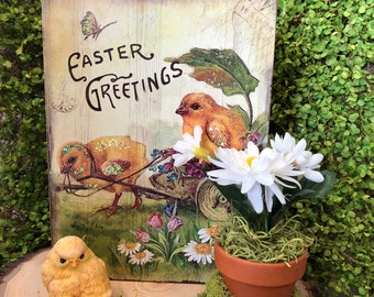 Easter Greetings Sign