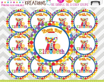 FVTAGS-464: DIY - Cute Candy Shop 2 Favor Tags Or Stickers