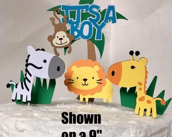 Jungle Baby Shower Decorations, Jungle Baby Shower Cake Topper, Jungle Baby  Shower Banner,