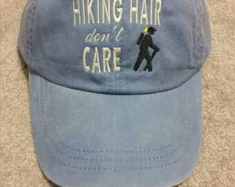 Hiking Hair Don't Care Baseball Hat