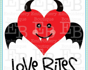 Love Bites SVG - This design is to be used on an electronic cutting machine. Instant Download