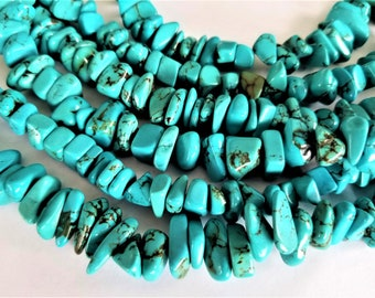 """SALE Turquoise nuggets  US turquoise from southwest  full 15""""strand"""