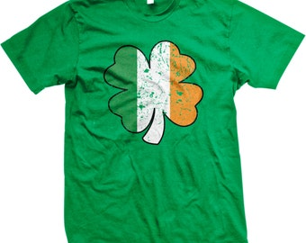 Four Leaf Irish Shamrock, St. Patrick's Day, Irish Pride Men's T-shirt, NOFO_00096