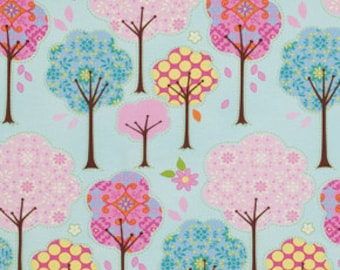 Pretty Little Things Trees on Blue, Dena Designs Free Spirit Cotton Woven