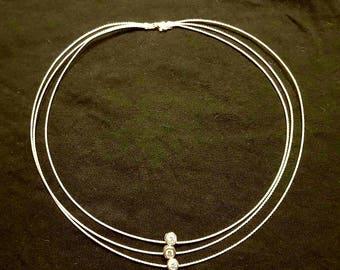 Silver cubic zirconia crystal necklace