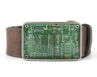 PCB Belt Buckle,  Circuit Board Belt Buckle, Geekery / Geek Belt Buckle, Computer belt buckle