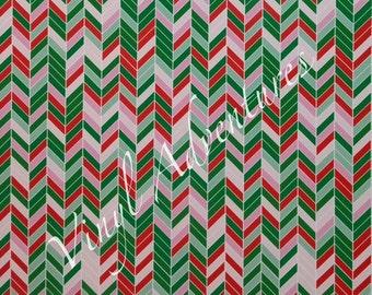 Herringbone Heat Transfer Vinyl, Christmas Htv, Pattern HTV, Patterned HTV, Siser Easyweed, Printed HTV, Red Green Htv, Watermelon, HTv