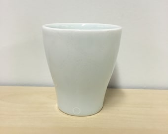 handmade porcelain celedon juice cup: Dot Dot Rounded Square cup by Meredith Host