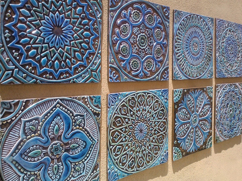 Ceramic Wall Decor Classy Garden Decor Outdoor Wall Art Made From Ceramic  Set Of 8 Design