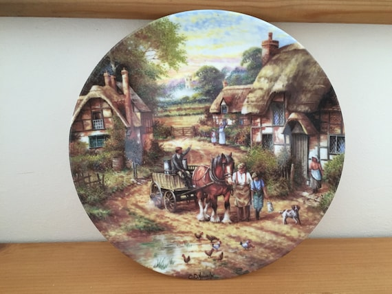 & Wedgwood Limited Edition Early Morning Milk Decorative Plate