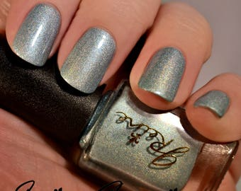Posh Pirogue - Blue Green Multichrome Holographic Nail Polish